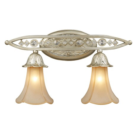 ELK Lighting Two Light Aged Silver Vanity