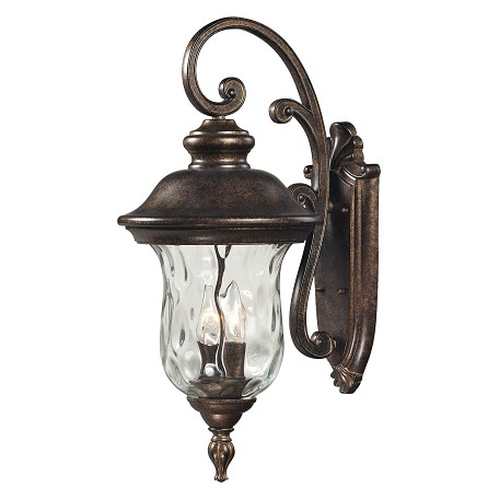 ELK Lighting Two Light Regal Bronze Wall Lantern