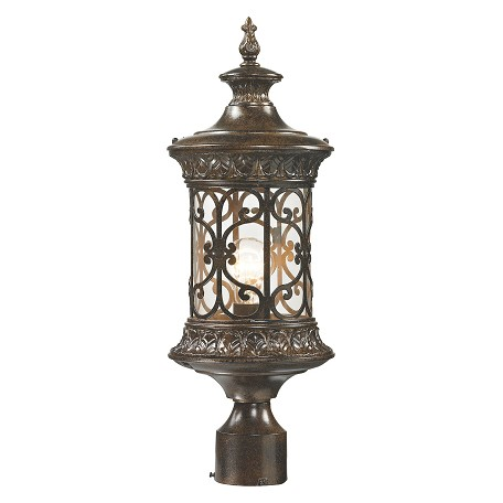 ELK Lighting Orlean Collection 1 Light Outdoor Post Light In Hazelnut Bronze