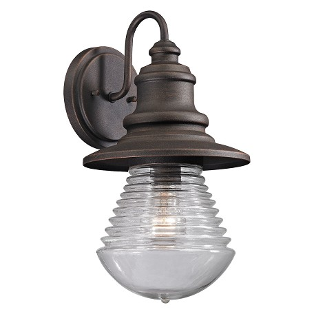 ELK Lighting Westport Collection 1 Light Outdoor Sconce In Weathered Charcoal