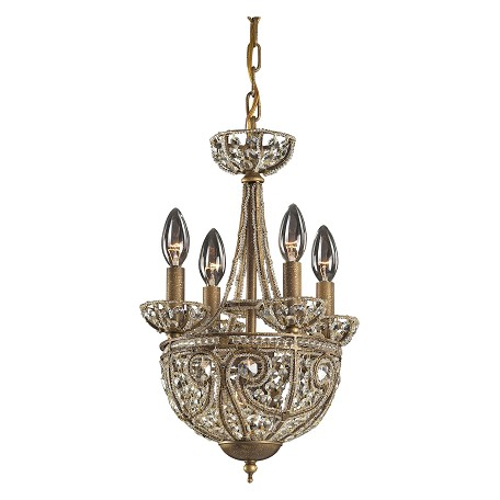 ELK Lighting Five Light Dark Bronze Up Chandelier
