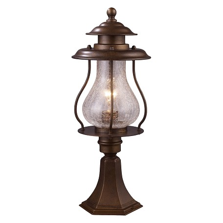ELK Lighting One Light Coffee Bronze Post Light