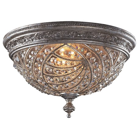 ELK Lighting Four Light Sunset Silver Bowl Flush Mount