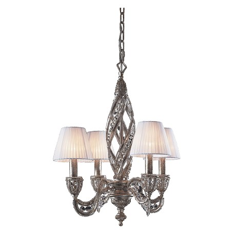 ELK Lighting Four Light Sunset Silver Up Chandelier
