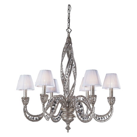 ELK Lighting Six Light Sunset Silver Up Chandelier