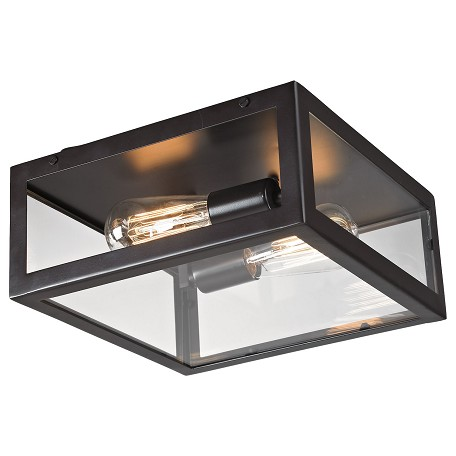 ELK Lighting Two Light Bronze Cage Flush Mount