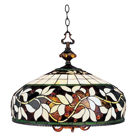ELK Lighting Seven Light Tiffany Bronze Down Pendant