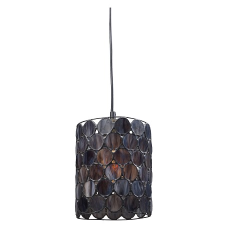 ELK Lighting One Light Matte Black Drum Shade Mini Pendant