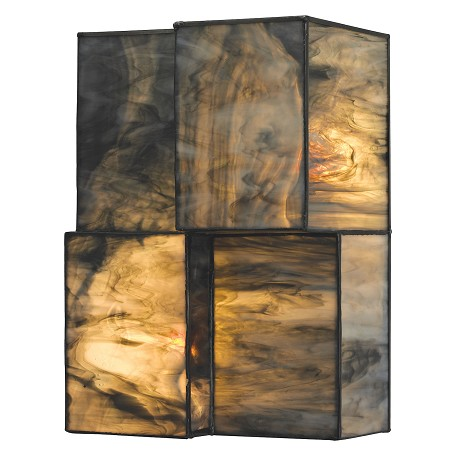 ELK Lighting Cubist Collection 2 Light Sconce In Brushed Nickel