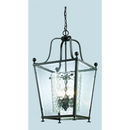 Z-Lite Three Light Bronze  Foyer Hall Pendant