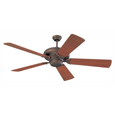 Monte Carlo Grand Prix 60-Inch 5-Blade Ceiling Fan With Teak Blades