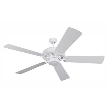 Monte Carlo Grand Prix 60-Inch 5-Blade Ceiling Fan With White Blades