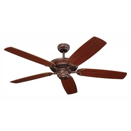 Monte Carlo Colony 52-Inch 5-Blade Ceiling Fan With Mahogany Blades