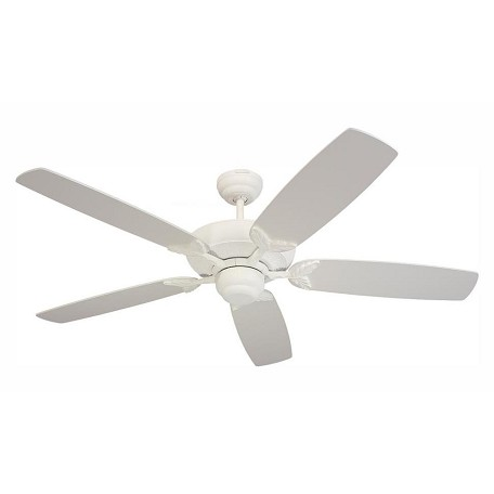 Monte Carlo Mansion White Ceiling Fan