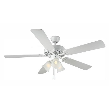 Monte Carlo Three Light White Ceiling Fan