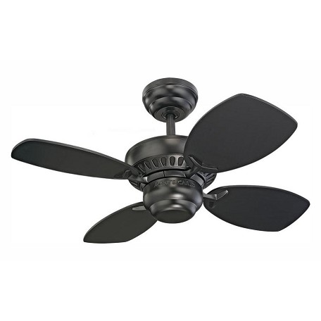 Monte Carlo Colony Ii 28-Inch 4-Blade Ceiling Fan With Black Blades