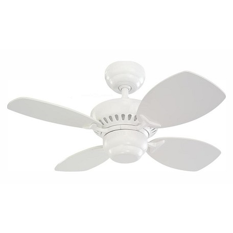 Monte Carlo Colony Ii 28-Inch 4-Blade Ceiling Fan White