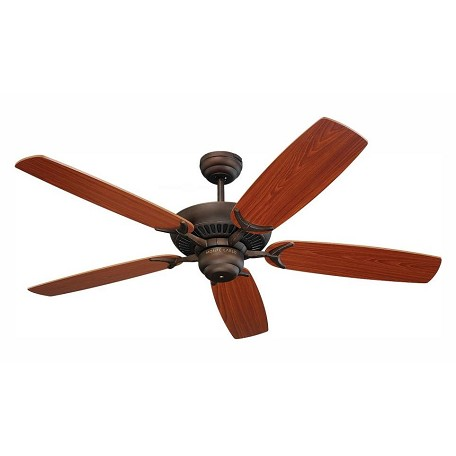 Monte Carlo Colony 52-Inch 5-Blade Ceiling Fan With Motor And Teak Blades