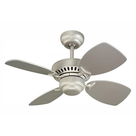 Monte Carlo Colony Ii 28-Inch 4-Blade Ceiling Fan With Silver Blades