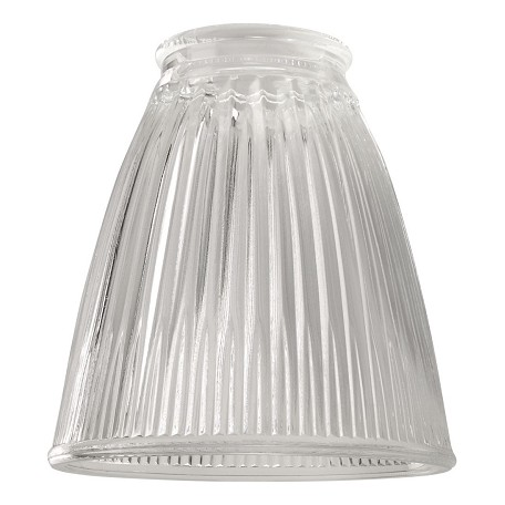 Craftmade Clear / Ribbed Cone 2.25in. Cone Shaped Fan Glass
