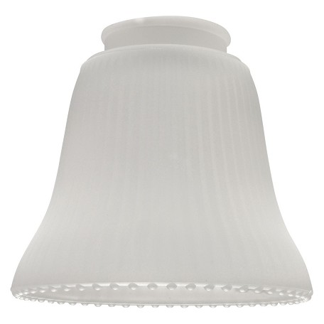Craftmade Frosted / Ribbed 2.25in. Bell Shaped Fan Glass