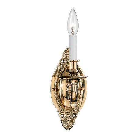 Crystorama Polished Brass Arlington 1 Light Candle Style Wall Sconce
