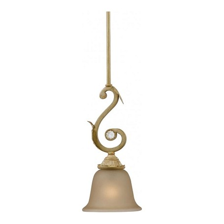 Crystorama Champagne Winslow 1 Light Mini Pendant