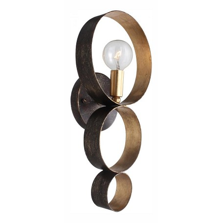 Crystorama English Bronze / Antique Gold Luna 1 Light Wall Sconce
