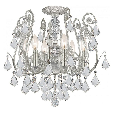 Crystorama 6 Light Swarovski Elements Crystal Semi-Flush