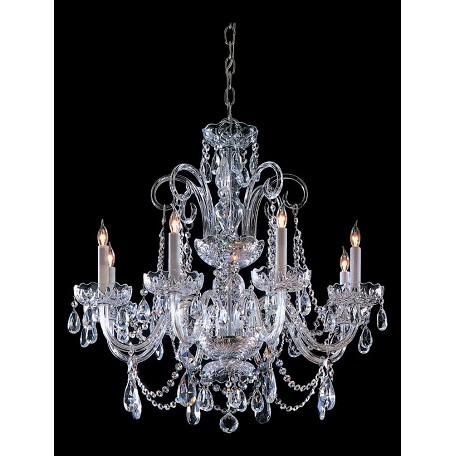 Crystorama Eight Light Polished Chrome Up Chandelier