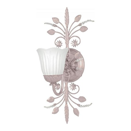 Crystorama Blush Primrose 1 Light Floral Wall Sconce