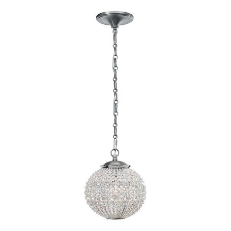 Crystorama One Light Antique Pewter Down Mini Chandelier