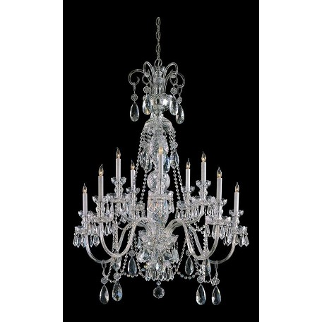 Crystorama Ten Light Polished Chrome Up Chandelier