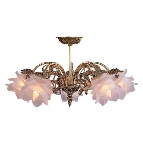 Crystorama Olde Brass 5 Light Cast Brass Chandelier from the Cecile Collection