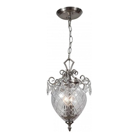 Crystorama Polished Chrome Avery 2 Light Mini Pendant with Hand-Cut Crystals