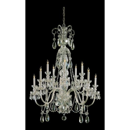 Crystorama Ten Light Polished Brass Up Chandelier
