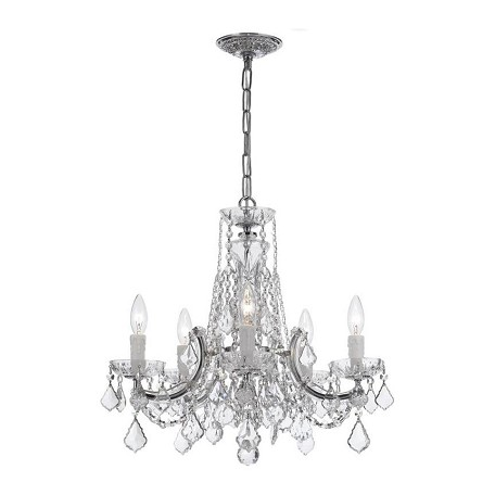 Crystorama Five Light Polished Chrome Up Chandelier