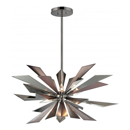 Crystorama Midnight Chrome 3 Light 1 Tier Pendant from the Galaxy Collection
