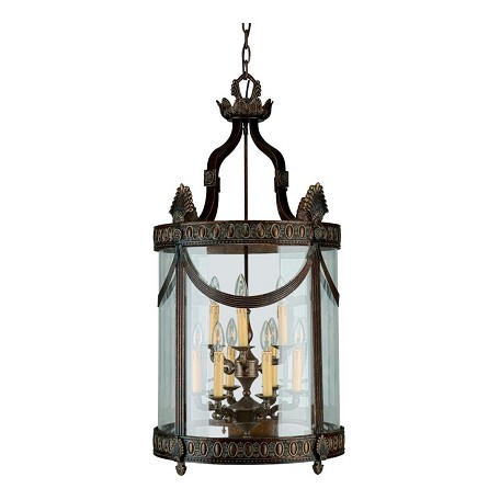 Crystorama Espresso Regal 6 Light Foyer Pendant