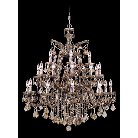 Crystorama Twenty Six Light Antique Brass Up Chandelier