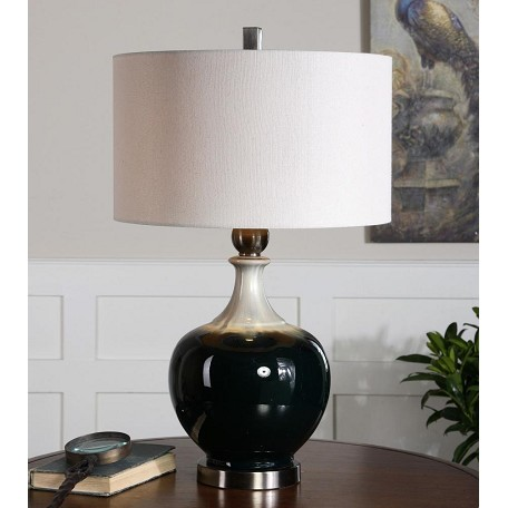 Uttermost Dark Bronze With Aged Ivory Cadeo 1 Light Table Lamp