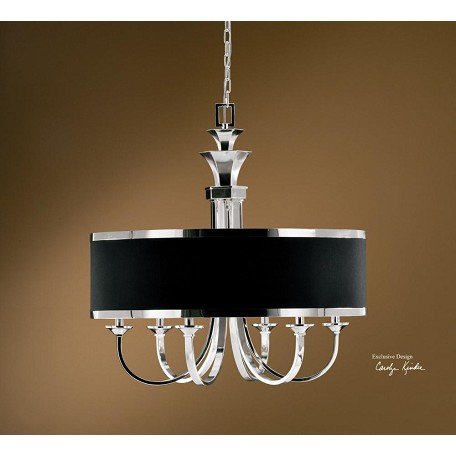 Uttermost Silver Plated 6 Light Single Tier Chandelier From The Tuxedo Collection