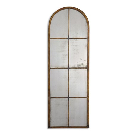 Uttermost P Maple Brown With Gold Amiel Arch Antiqued Mirror Wall Art