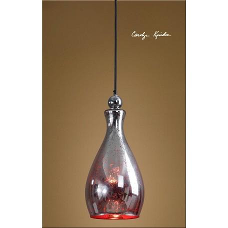 Uttermost red mercury glass sardinia 1 light mini pendant for Sardinia floor lamp chrome