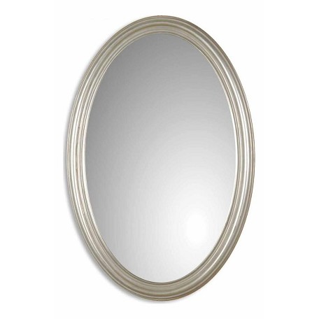 Uttermost P Silver With Gray Glaze Franklin Oval Mirror
