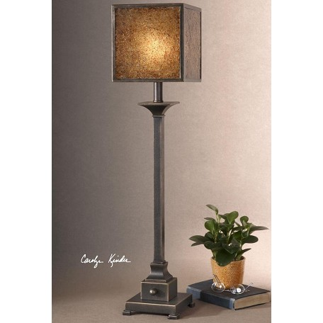 Uttermost Buffet Lamp With Crushed Glass Shade From The Meora Collection