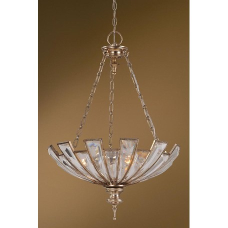 Uttermost Silver Champagne Vicentina 3 Light Bowl Shaped Pendant