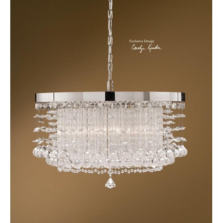 Uttermost Chrome Plated Crystal Crystal Hanging Shade Pendant