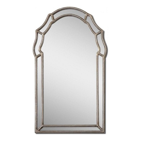 Uttermost Antiqued Silver Leaf Petrizzi Arched Mirror