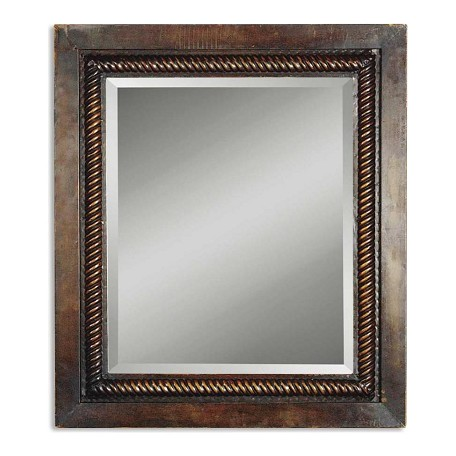 Uttermost Tanika Hand Forged Metal Framed Mirror With Rope Trim